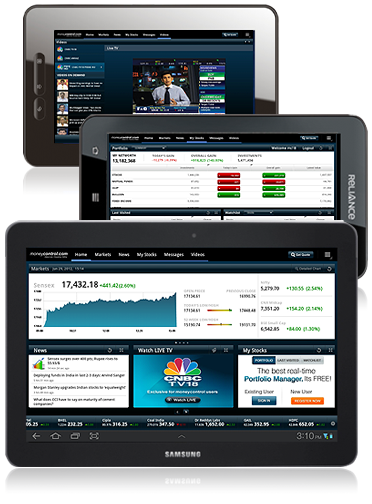 Stock Market on your Android Tablet, Stock Quote, Share