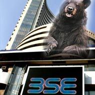 Sensex down 350 pts on Japan meltdown, SBI Q4 disappoints